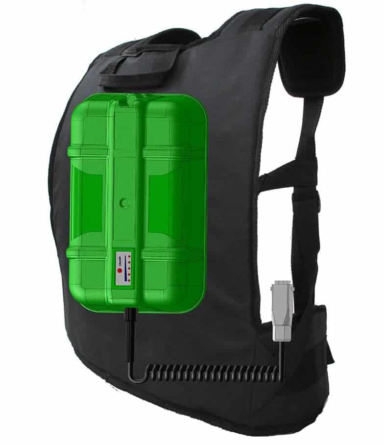 Vareador Olivgreen Bateria de Mochila MEOGBL 1000